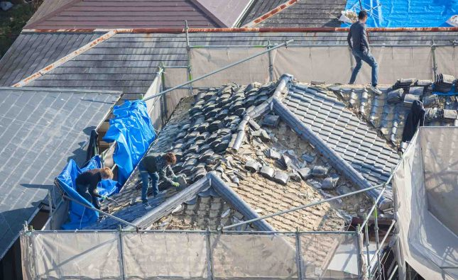 How do you check for roof damage?
